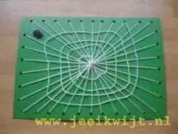 Herfst knutsel Spinneweb