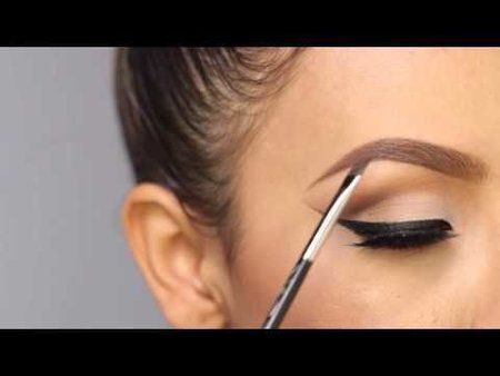 how to draw eyebrows with brow pencil