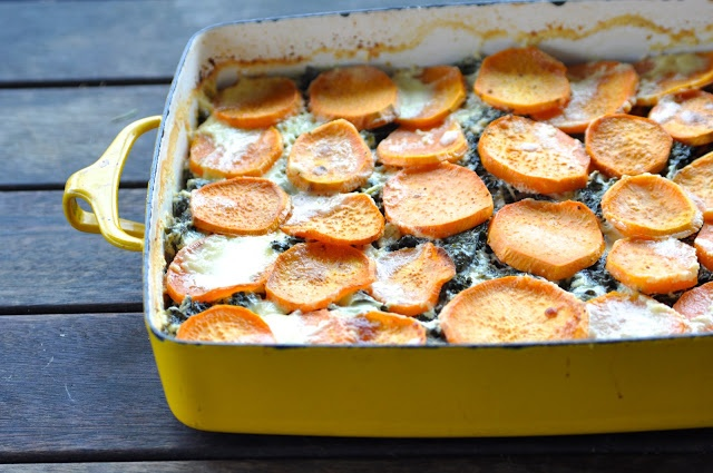 Sweet Potato & Kale Gratin Recipe — Dishmaps