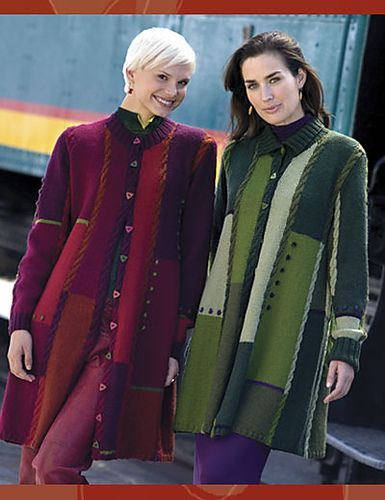 Metro Coat pattern by Jane Slicer-Smith and published in 'Swing Swagger Drape: Knit the Colors of Australia' ...... the Ravelry page can take you to the book site.