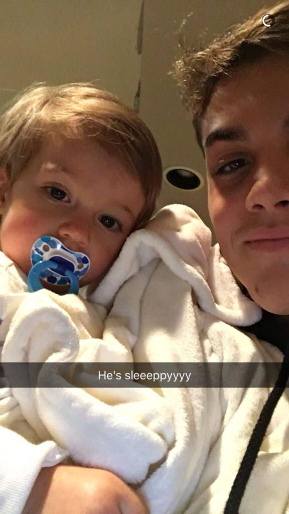 Imagine Grayson Snapchating this to you while you are away on a business trip.