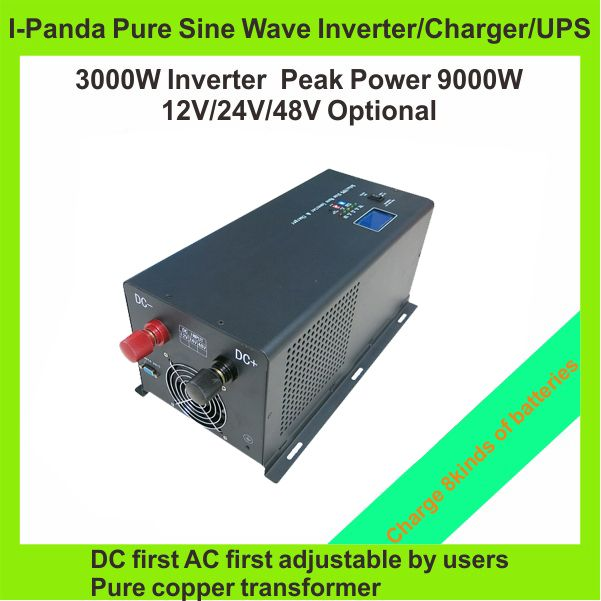 HOT SALE!! 3000W Off Grid Inverter Pure Sine Wave Inverter charger UPS with LCD LED RS232 AC first DC first TPI-3000W invertor #Affiliate