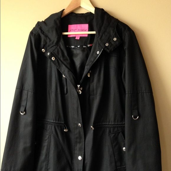 ‼️Betsy Johnson winter coat for sale‼️ This beautiful absolutely chic coat . I just had it dry cleaned. It is beautiful and ideal for fall and winter!!. This coat was not cheap at all and is of great quality and great detail too.. It is sized XL American and honestly wouldnt fit past size 16 American.. I am open to offers and I bundle as well!! Betsey Johnson Jackets & Coats