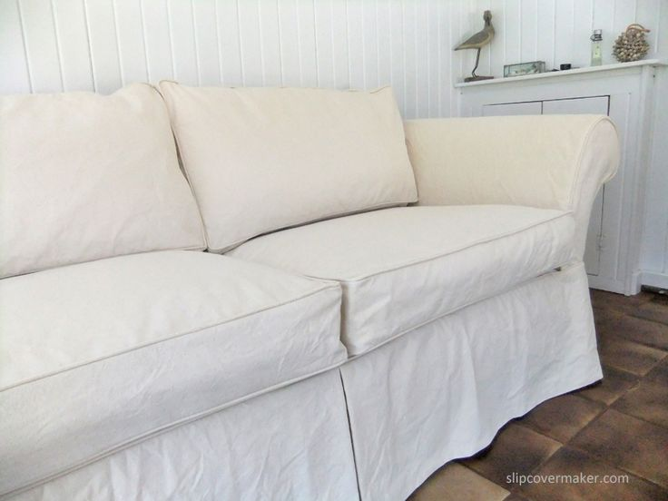 Shabby Chic Style Custom Slipcover Made With Cotton Duck Cloth From Canvas I Think This Slip Will Outlast The Sofa