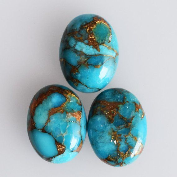 16X12 MM 5 Pieces Natural Turquoise Stone Pear Cabochon Lot For Jewelry Making