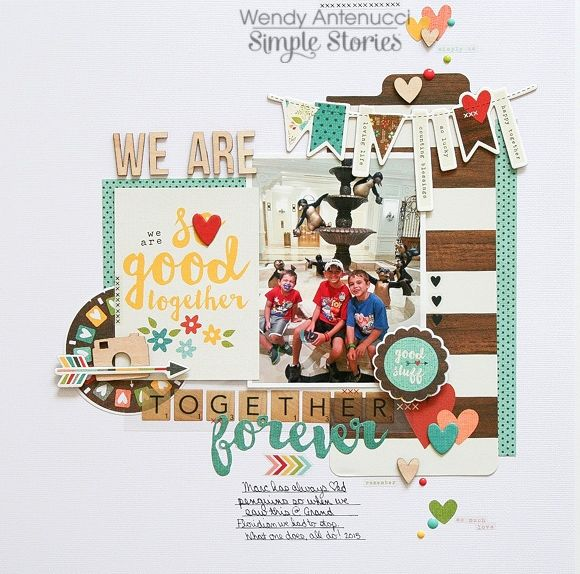 #papercrafting #scrapbook #layouts: Together Forever **Simple Stories DT** - Scrapbook.com
