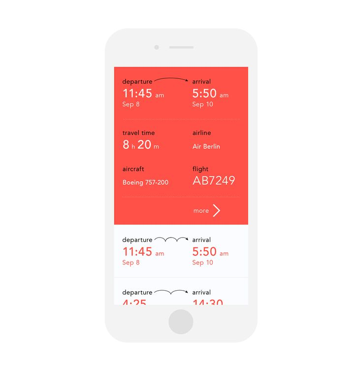 An interface of a service that provides information about flight schedules worldwide.
