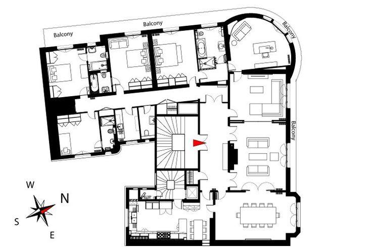 409 best Cool floorplans images on Pinterest | Apartment ...