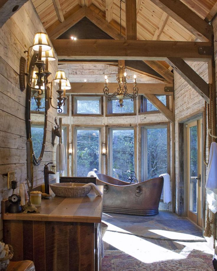 Bathrooms Pinterest Rustic Bathrooms Photos And Vaulted Ceilings