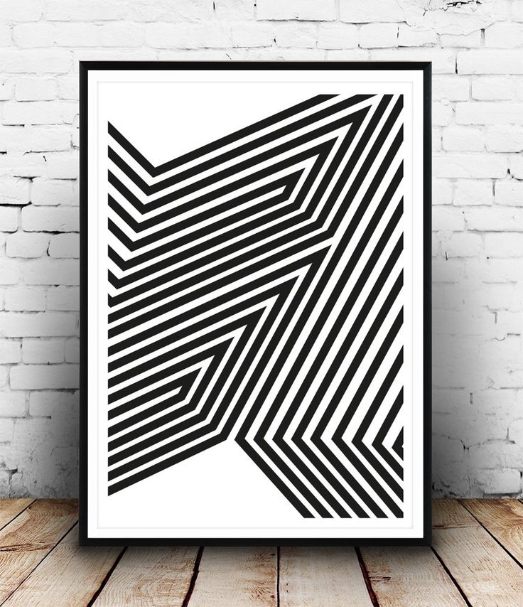Black and white art, Abstract art print, Modern poster, Wall print, Wall art, Lines art, Minimalist art print, Home decor, Op art print by Wallzilla on Etsy https://www.etsy.com/listing/219401948/black-and-white-art-abstract-art-print