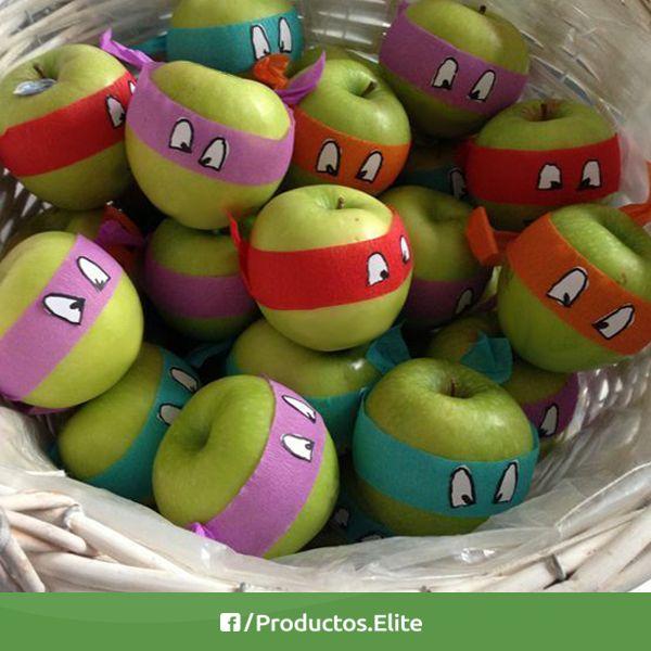 Te compartimos esta súper buena idea para que los peques consuman frutas y verduras. #Frutas #TortugasNinja #Manzana #Apple