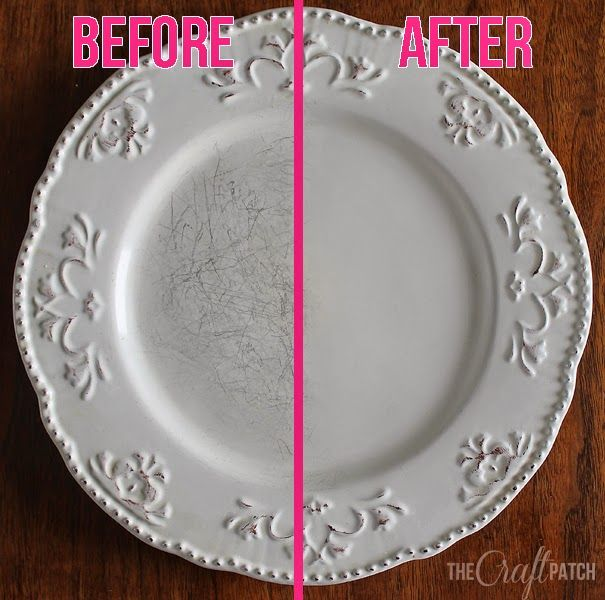 The Craft Patch: Pinterest Tested: Removing Black Marks from Dishes