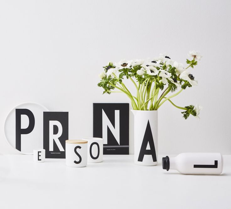 Make it personal! With a personal plate, notebook, cup, greeting card or water bottle. Use the porcelain water jug for water or as a spring flower vase.