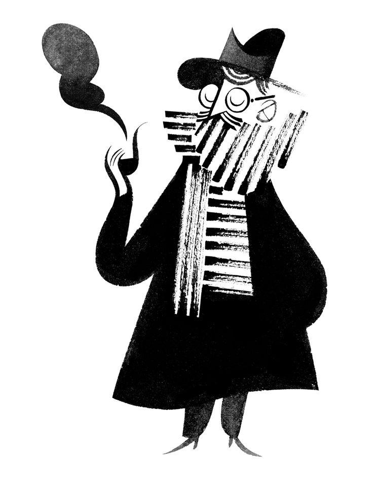 Roman Muradov : the New Yorker 01.2014 #illustration #design #character