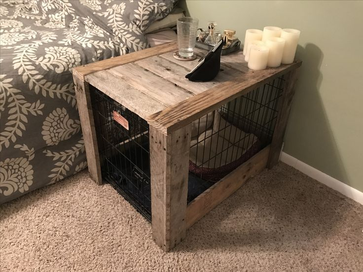 Pallet Wood Dog Crate Nightstand Wood Dog Crate Dog