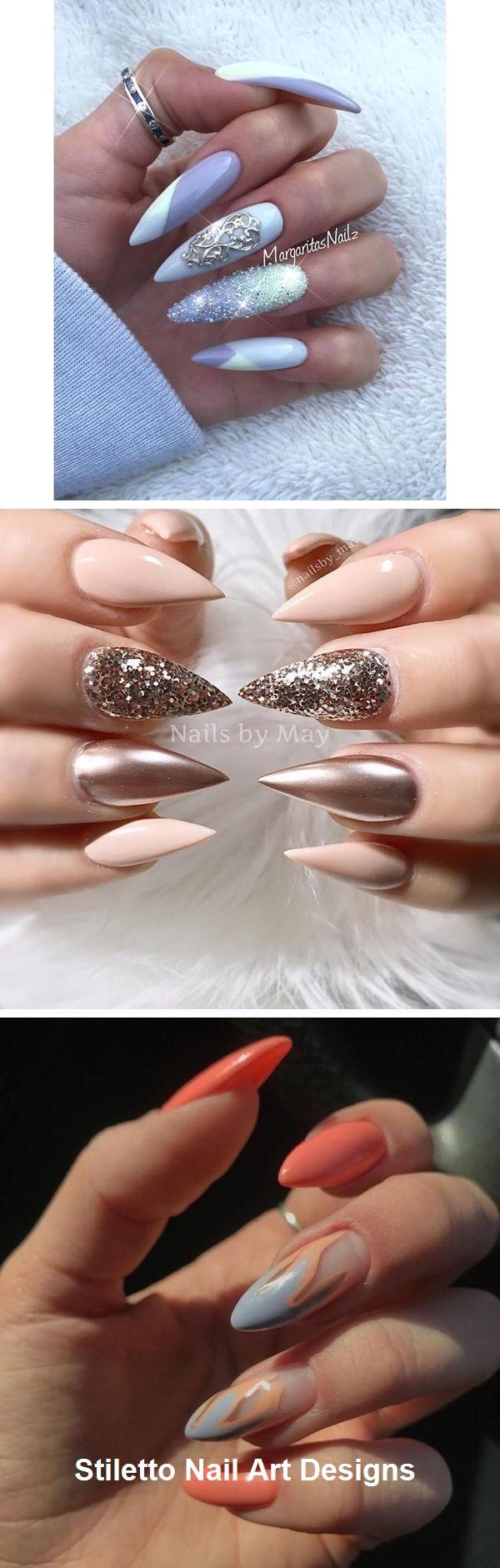 30 große Stiletto Nail Art Design-Ideen # Stilettonails – Nageldesign