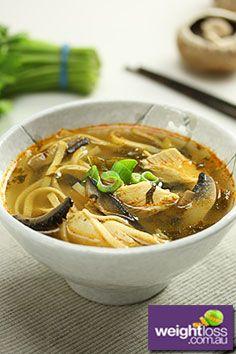 Thai Chicken & Mushroom Soup Recipe. #HealthyRecipes #DietRecipes  #WeightLossRecipes weightloss.com.au
