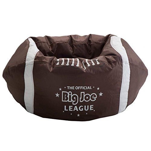 Comfort Research Big Joe Football Bean Bag Chair. Be a winner with the Big Joe Sport Balls! These chairs are the updated design of proven winners, whether you love football, soccer, basketball or baseball. All of them are made from cut panels, NOT PRINTED, so you get the professional look of... more details available at https://furniture.bestselleroutlets.com/children-furniture/chairs-seats/bean-bags-chairs-seats/product-review-for-comfort-research-big-joe-football-bean-bag-c