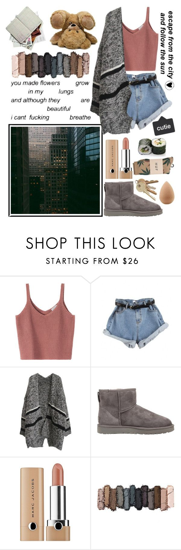 """♡ and follow the sun ♡"" by queensof ❤ liked on Polyvore featuring UGG Australia, HUF, Urban Decay, beautyblender and casual"