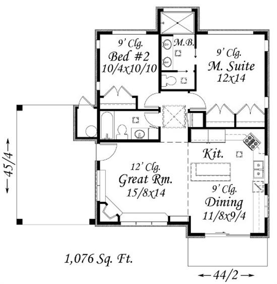 Feng Shui Small Home 1076 Sq Ft Build The Master