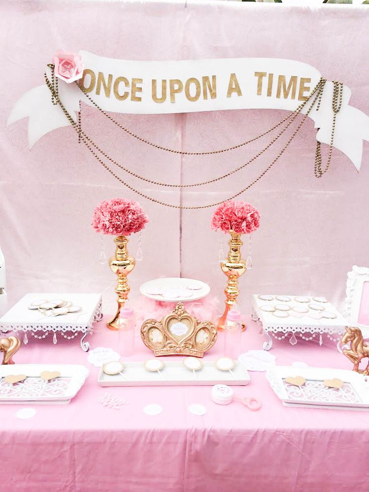 pink and gold baby shower princess baby showers gold baby showers baby
