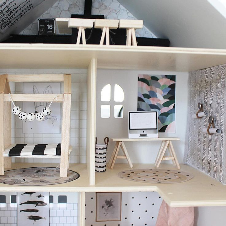 106 best best dollhouses ever images on pinterest doll for Big modern dollhouse