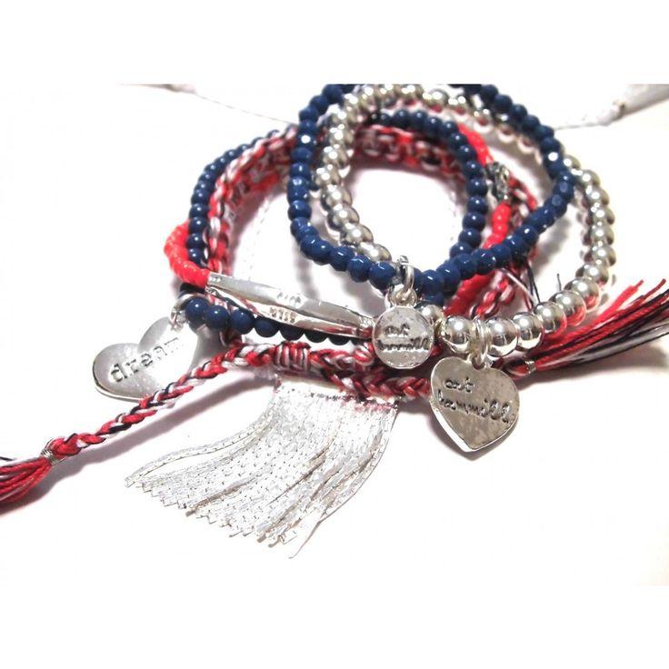 CAT HAMMILL キャットハミル オーストラリア の ドリーム ハート ブレスレットセット Nautical Chain Tassel Set bracelet silver multi 海外 ブランド|beautejapan2|01