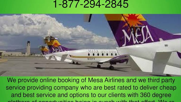 Mesa Airlines Booking Phone Number (1-877-294-2845)