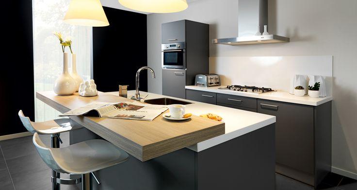 Keller marino moderne open keuken met kookeiland onze keukens pinterest bar and met - Bar design keuken ...