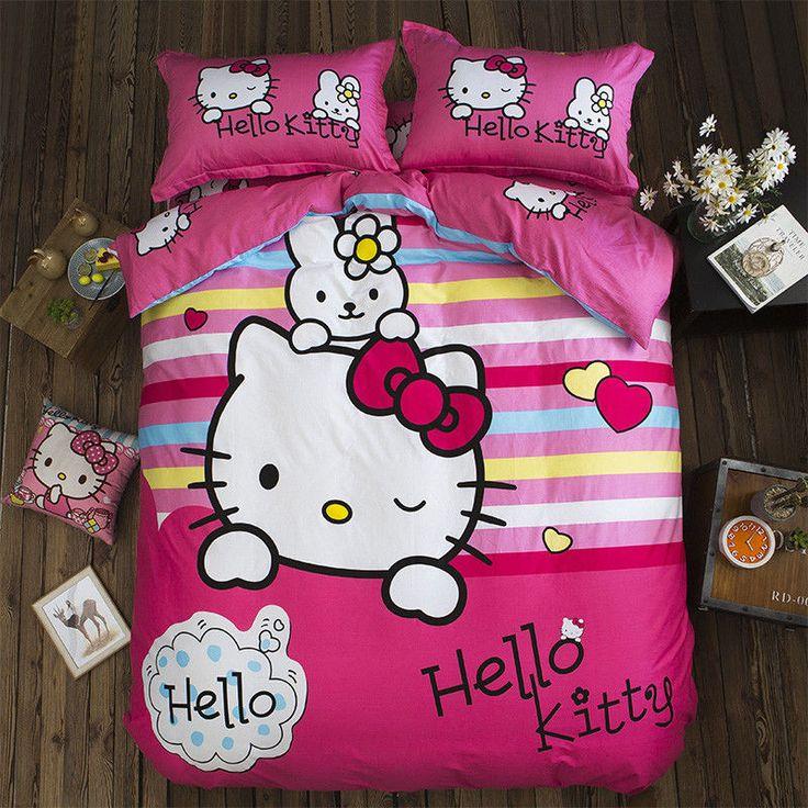 Home Textiles Hello Kitty cartoon style bedding set cover