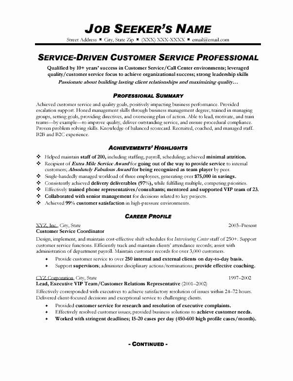 Customer Service Action Plan Examples Awesome Customer Service Resume Sample 328 Topresume Customer Service Resume Resume Skills Resume Summary Examples