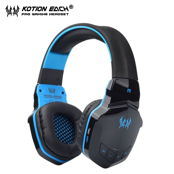 Cheap price US $23.64  KOTION EACH B3505 Wireless Bluetooth headset Headphones With Microphone Gamer bleutooth Headphone 3.5mm for phone and PC   Get discount for product: Samsung
