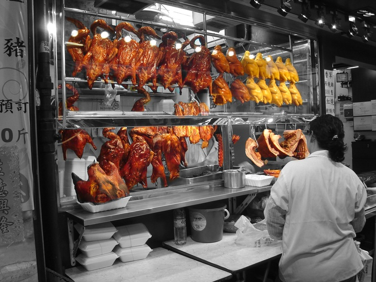 """Roasted birds in Tai Po #HongKong. See this pic and more in my """"Colours Gallery #2"""" at www.rsreynoldstravel.com/galleries.html"""