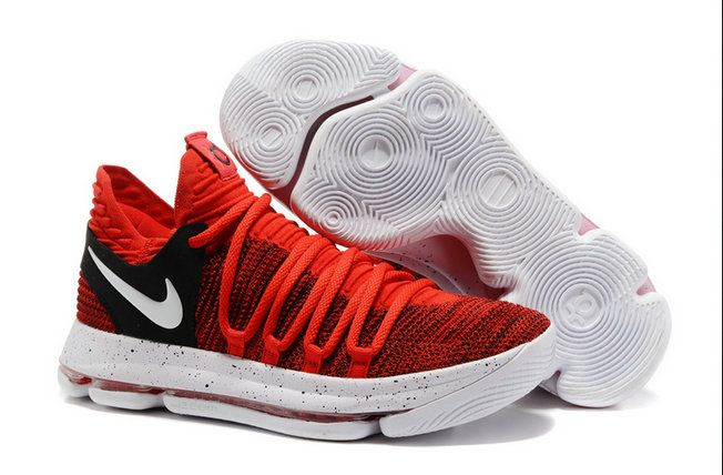 buy online 98b01 b2bb5 Half Off Nike KD 10 Red Velvet University Red Pure Platinum-Black  Basketball Shoe For