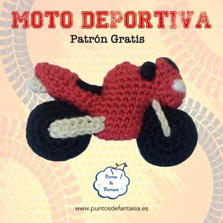 Patrón gratis Moto Deportiva amigurumi