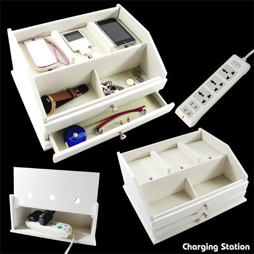 Storage Box,Multi Power Plug Socket Anti Dust Storage Box Cable/Wire/
