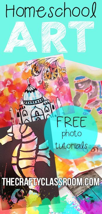 TONS of Free Homeschool Art Projects for Kids.  Organized by Theme, Culture, etc....Many different art forms and techniques used and can easily be paired with Unit Studies. www.TheCraftyClassroom.com