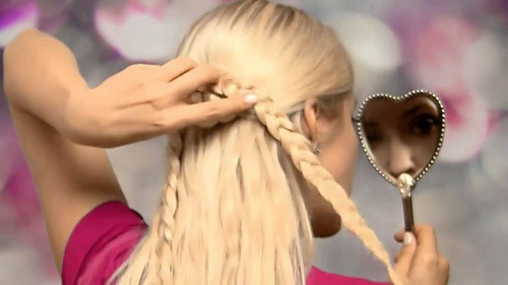 Braided heart hair tutorial Cute half up half down hairstyles for long hair with extensions 2013, vi...  #braided #cute #extensions #hair #hairs
