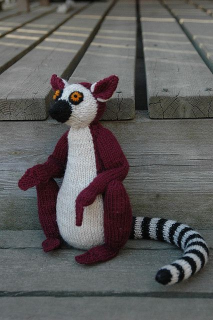 Hococo The Lemur Pattern By Alan Dart Knitted Dolls