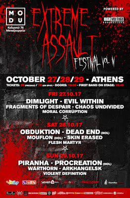 BEHIND THE VEIL WEBZINE: Extreme Assault Festival vol IV