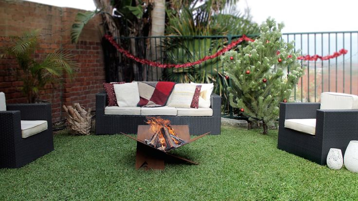 Fire-Away Fire Pit | throw-back to our Christmas garden party | flat pack Australian design