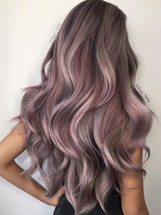 Lilac Grey hair. Guy Tang Well I've done the colours separately in various tones, maybe it's time to blend them.