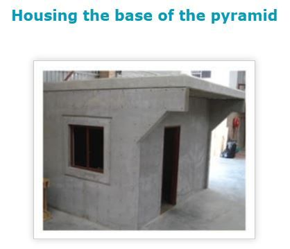 Housing the base of the pyramid - room for rent