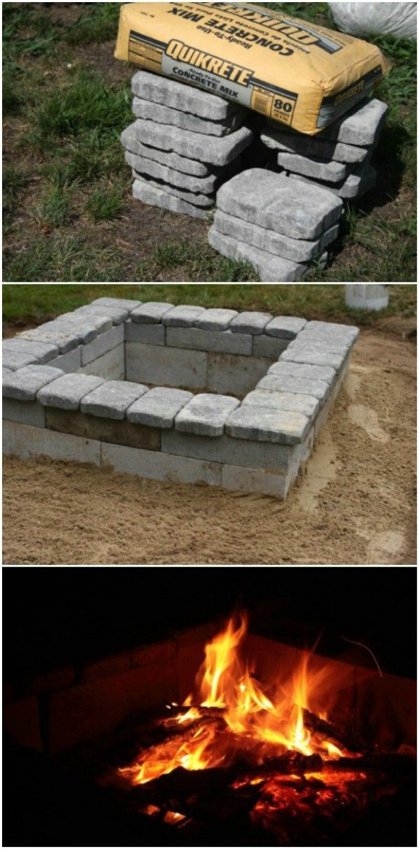 25 best ideas about cinder block fire pit on pinterest for Cinder block pond ideas