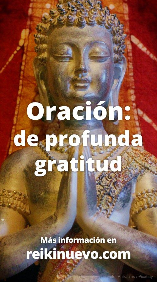 Escucha esta oración de profunda gratitud dedicada a la Divinidad, con sus palabras podrás agradecer todo su apoyo y compañía: https://www.reikinuevo.com/oracion-profunda-gratitud/