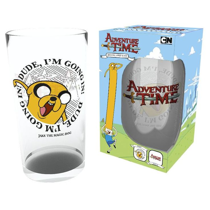 "Bicchiere ""Going in!"" del brand #AdventureTime."