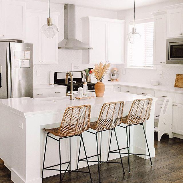 Ltkhome On Instagram Crisp Clean Laundry Room Details Care Of Cherishedbliss Follo In 2020 Modern Bar Stools Kitchen White Kitchen Bar Stools Kitchen Bar Table