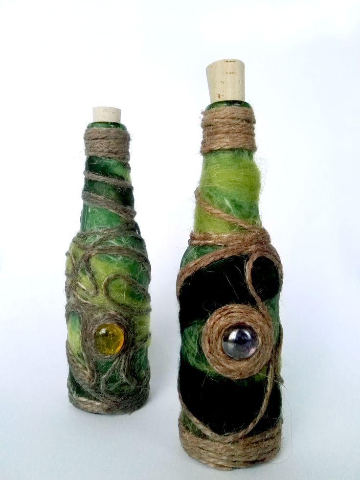 Green Pirate Bottle Bottle, Potion bottle, Diy bottle