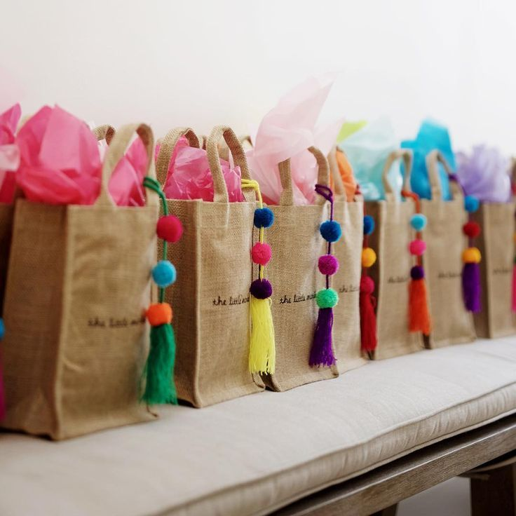 Our colorful pom poms are great for adding a pop of color to any gift!