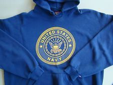USN US NAVY SEALS SEABEES SAILOR AIRCREW ISSUE ATHLETIC PT HOODIE SWEATSHIRT MD